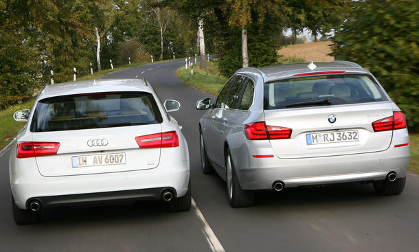 Audi A6 Avant 3.0 TDI quattro und BMW 535d Touring