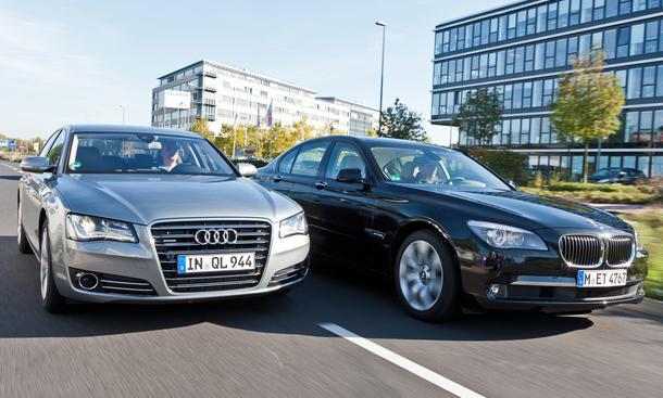 Audi A8 und BMW 730d