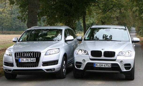 Bilder Audi Q7 BMW X5 Vergleichstest