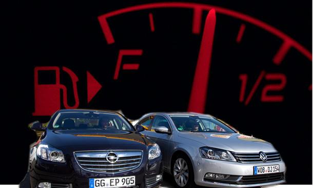 Opel Insignia VW Passat Verbrauch Vergleich Mittelklasse