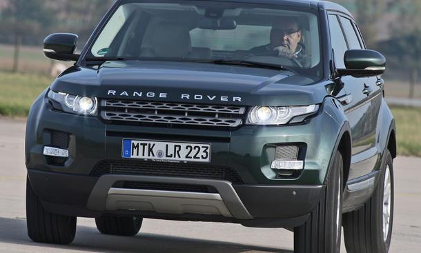 Range Rover Evoque TD4 - Seitenneigung