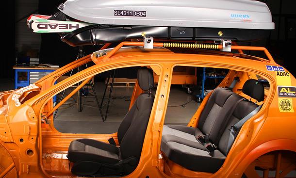 ADAC Dachboxen-Test 2011 Sicherheit Winter-Urlaub