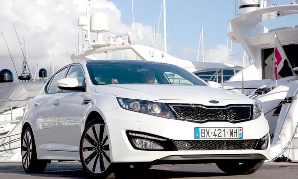 Bilder Kia Optima Fahrbericht 2012 Marktstart