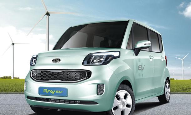 Bilder Kia Ray EV Elektroauto 2012