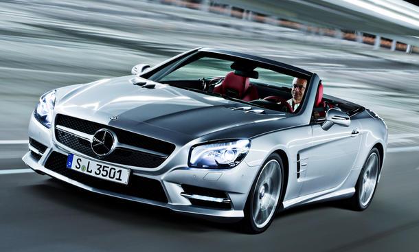 Mercedes sl roadster 2012 vorstellung detroit auto show 2012