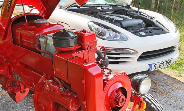 porsche diesel cayenne und junior traktor bild 6. Black Bedroom Furniture Sets. Home Design Ideas