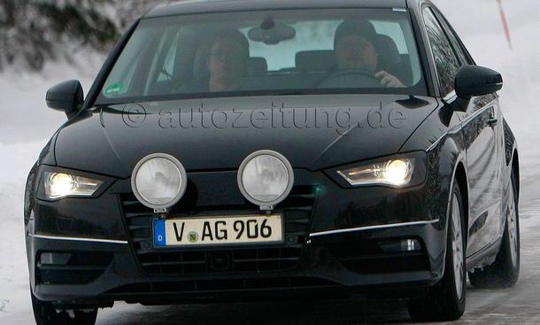 Audi A3 2012 Erlkönig ungetarnt enttarnt Auto Salon Genf 2012