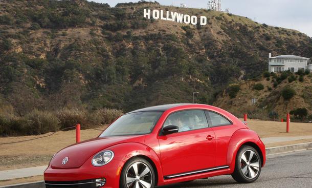 Bilder VW Beetle 2012 Los Angeles Hollywood Sign