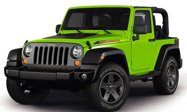 Jeep Wrangler Mountain Auto Salon Genf 2012 Edition Editionsmodell Gecko Grün