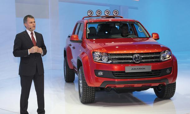 VW Amarok Canyon 2012 Genf Pick-up-Studie für Kanu-Fahrer