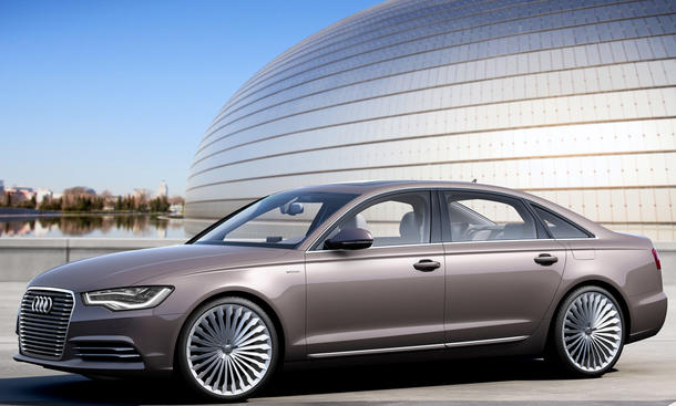 Audi A6 Langversion A6L e-tron Concept Auto China 2012 Peking