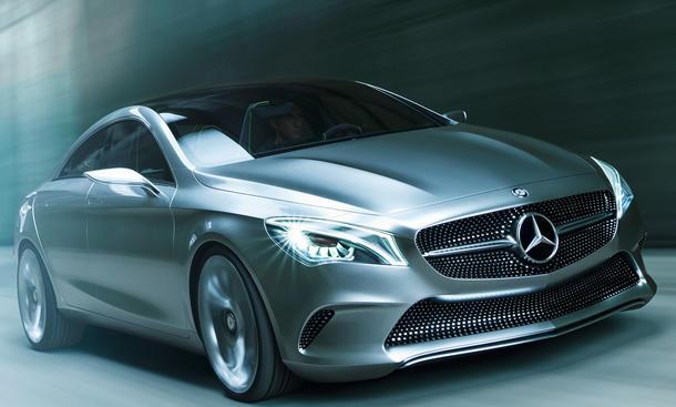 Mercedes CLA Concept Style Coupé Auto China 2012 Mittelklasse viertüriges Coupé kleiner Baby-CLS