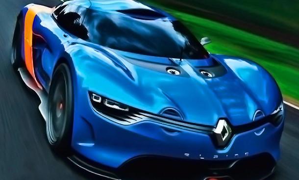 Renault Alpine A110-50 Concept Car 2012: Mittelmotor-Sportler