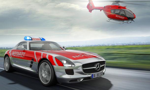 RETTmobil 2012: Mercedes SLS AMG Notarzt-Einsatzfahrzeug