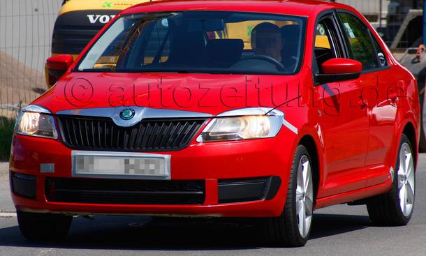 Skoda Rapid 2012 Erlkönig ungetarnt Kompakt-Limousine VW Jetta