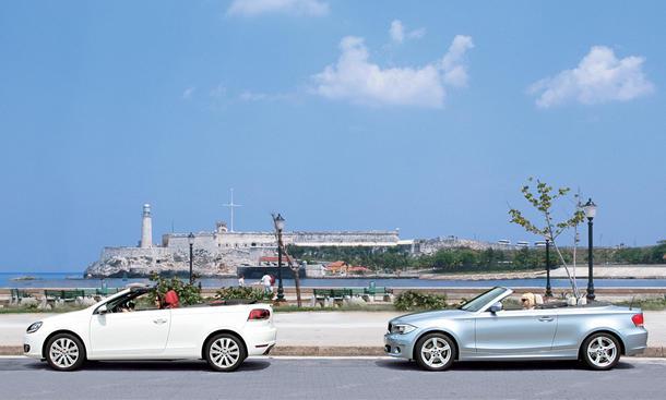 VW Golf Cabrio 1.4 TSI und BMW 118i Cabrio