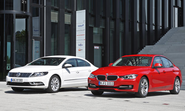 VW CC 2.0 TDI BlueMotion Technology und BMW 320d - Karosserie
