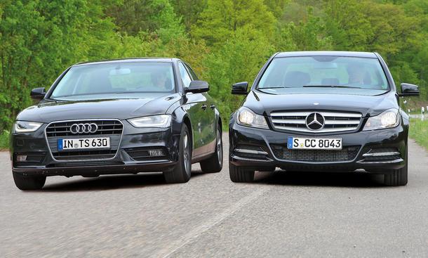 Audi A4 1.8 TFSI und Mercedes C 180 BlueEfficiency C-Klasse 2012 Vergleich