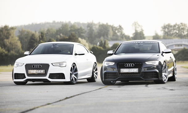 Audi A5 Coupé Facelift Rieger Tuning 2012 Front Vergleich