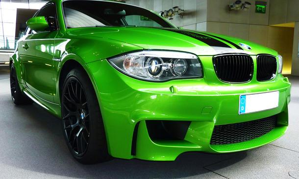 BMW 1er M Coupé Green Mamba Javagrün Front