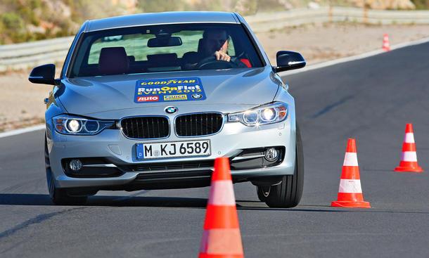 Goodyear Runflat Reifen Lesertest 2012 BMW Gewinnspiel run-on-flat Testfahrer