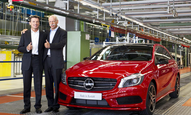 Mercedes A-Klasse Produktion Daimler erwartet neuen Absatzrekord für 2012