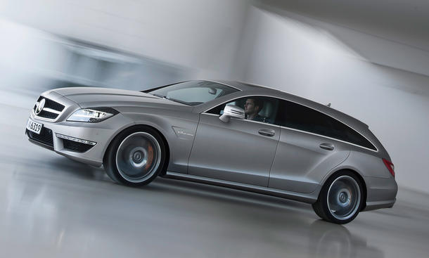 Mercedesn CLS 63 AMG Shooting Brake 2012: Power-Kombi de luxe