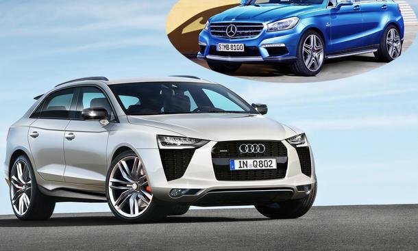 SUV-Pläne Audi Q2 Q8 Mercedes MLC City-SUV