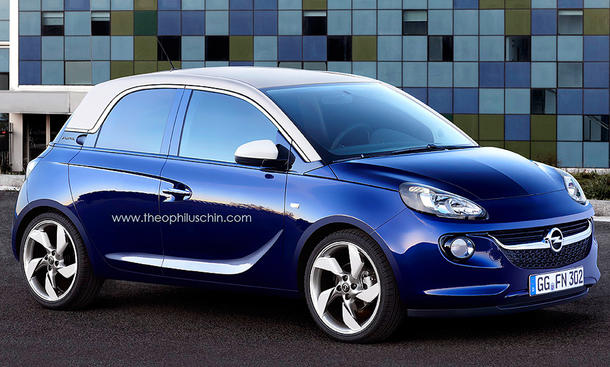 Opel Adam 2013 Fünftürer 5-Türer Kleinwagen 2014 Entwurf Gedankenspiel