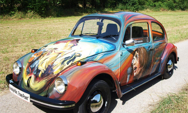Nostalgie VW Käfer Flower Power Woodstock Heilbronn 1280 Front