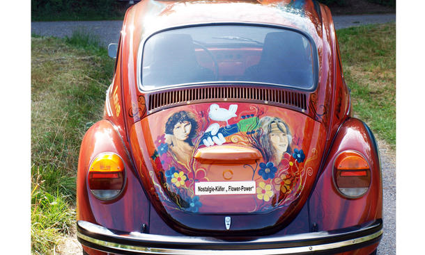 Nostalgie VW Käfer Flower Power Woodstock Heilbronn 1280 Heck