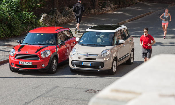 Fiat 500L 0.9 TwinAir und Mini One Countryman - Lifestyle-Features