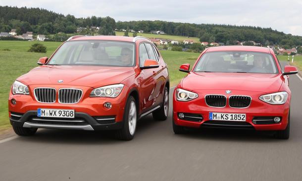 Bilder BMW Vergleich SUV Limousine BMW X1 xDrive25d Automatik BMW 125d Automatik