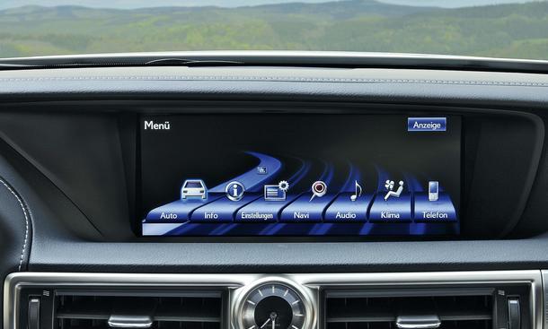 Bilder Mittelklasse Test Multimedia Bedienung 2012 Lexus GS 450h F-Sport