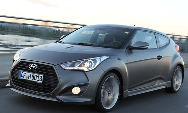 Hyundai Veloster neuer Einstiegspreis Veloster Turbo 2012 grau
