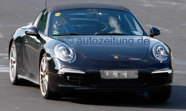 Porsche 911 Targa 2013 Erlkönig 991 Glas-Dach Nürburgring