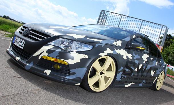VW Passat CC Tuning-Programm Folierung KBR Motorsport Tarnung Tarn-Folie