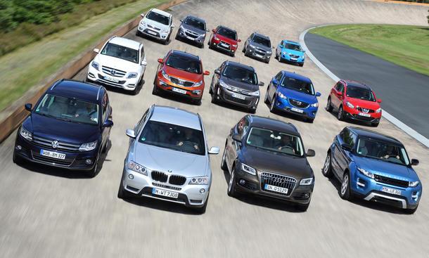 14 SUV im Mega-Vergleichstest – Teil 1: Audi bis Kia