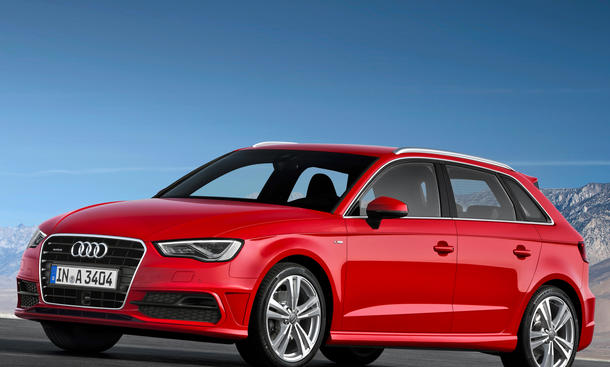 audi a3 sportback 2013 neuer kompakt kombi beim auto salon paris. Black Bedroom Furniture Sets. Home Design Ideas
