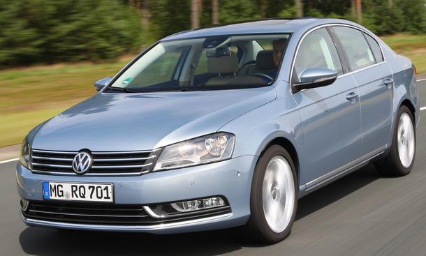 Bilder VW Passat 2.0 TSI Vergleichstest 2012 Lenkung