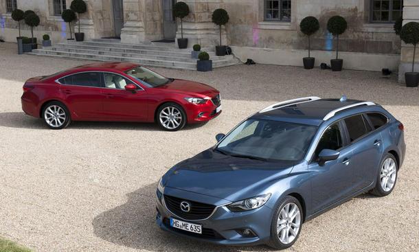 Mazda 6 2013 Preis Kombi Fahraufnahme Front