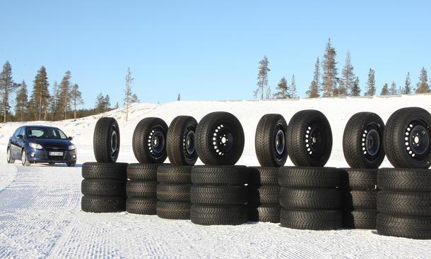 Reifentest Winterreifen Schnee Handling