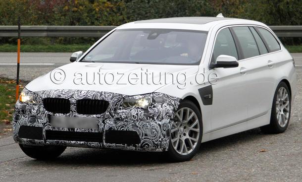 BMW 5er Facelift 2013 Erlkönig Touring F10 F11 LCI