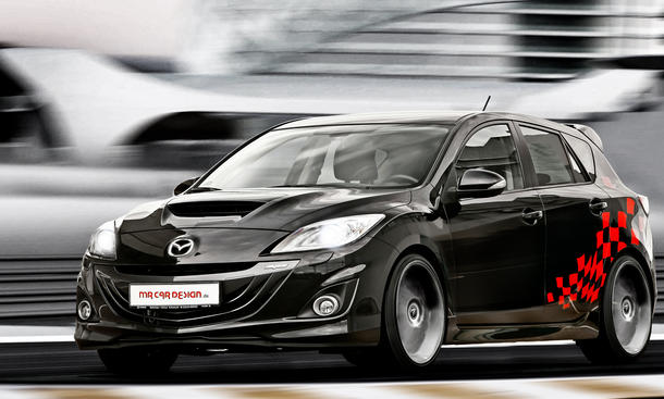 mazda 3 mps tuning von mr car design. Black Bedroom Furniture Sets. Home Design Ideas
