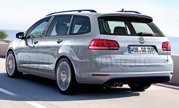 Volkswagen Golf VII Variant Fahraufnahme Heck