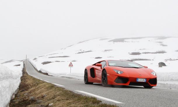 Bilder Lamborghini Aventador Faszination Trollstigen Norwegen 2012