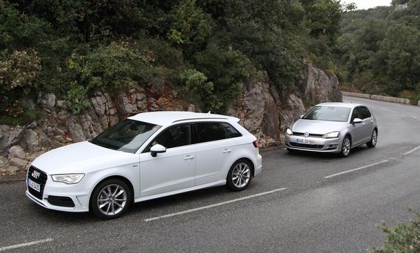 Vergleichstest 2012 Kompaktklasse Audi A3 Sportback 2-0 VW Golf 2-0 TDI
