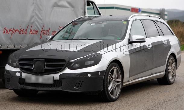 Mercedes E Klasse Facelift 2013 Erlkoenig Kombi T Modell