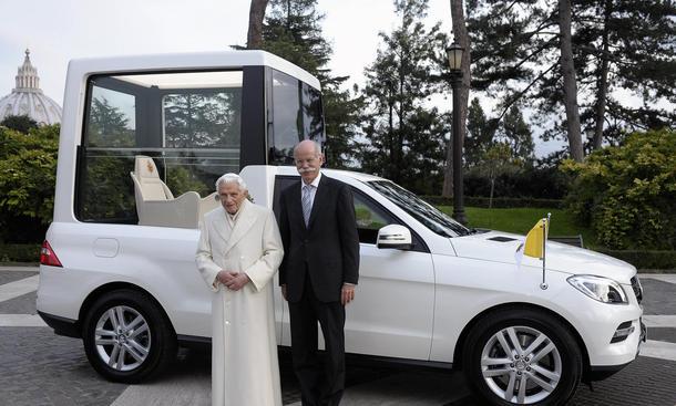 Mercedes M-Klasse Papamobil Papst Auto Sicherheit 2012 2013 Panzerung Partnerschaft