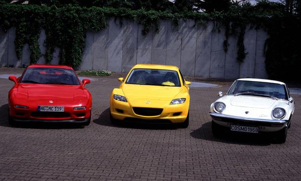 40 Jahre Mazda RX-7 RX-8 Cosmo Sport Rückblick Historie Geschichte